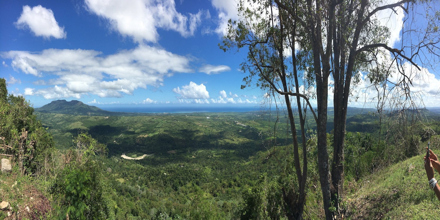 Panoramic View of the ocean & Mountain